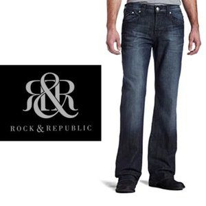 Rock & Republic Henlee Straight Jeans - 36x34